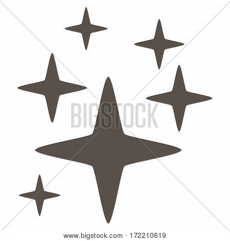 Sparkle Stars flat icon. Vector grey symbol. Pictogram is isolated on a white background. Trendy flat style illustration for web site design logo ads apps user interface.