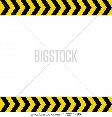 Warning sign on white background vector illustration