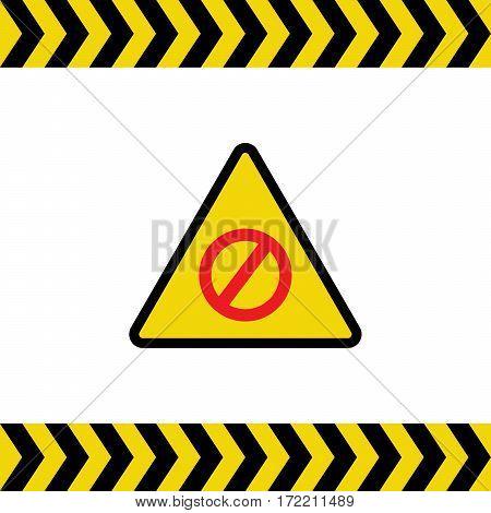 Warning sign vector illustration on white background