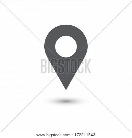 Location vector illustration icon with shadow on white background