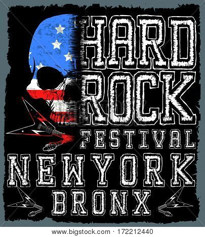 Rock poster; vintage rock and roll typographic for t-shirt; tee design; poster; vector illustration