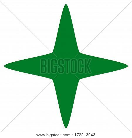 Sparkle Star flat icon. Vector green symbol. Pictogram is isolated on a white background. Trendy flat style illustration for web site design logo ads apps user interface.