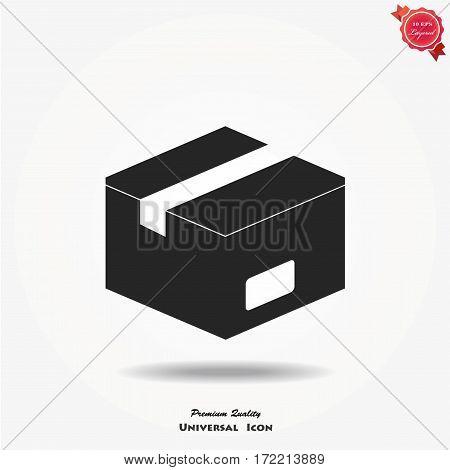 Open box icon. Box vector illustration, environment