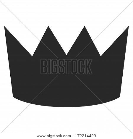 Crown flat icon. Vector gray symbol. Pictogram is isolated on a white background. Trendy flat style illustration for web site design logo ads apps user interface.