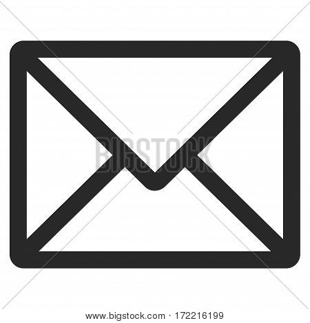 Letter flat icon. Vector gray symbol. Pictograph is isolated on a white background. Trendy flat style illustration for web site design logo ads apps user interface.