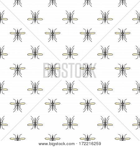 Mosquito vector seamless pattern for textile design, wallpaper, wrapping paper or scrapbooking. Zika virus malaria alert.