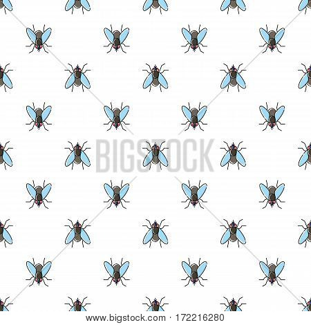 Fly vector seamless pattern for textile design, wallpaper, wrapping paper or scrapbooking.