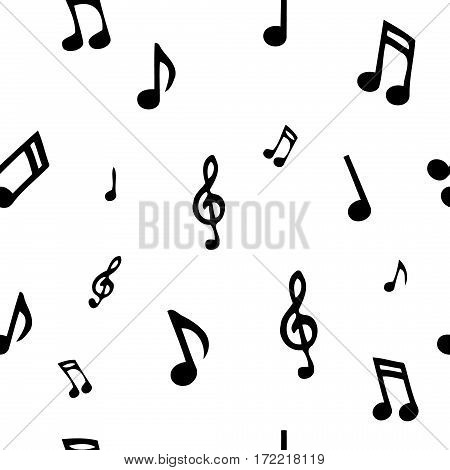 Abstract music seamless pattern. background vector illustration