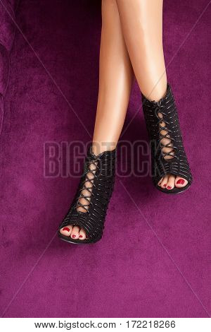Black Fashion High Heel Shoes