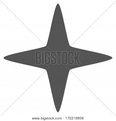 Sparkle Star flat icon. Vector gray symbol. Pictograph is isolated on a white background. Trendy flat style illustration for web site design logo ads apps user interface.
