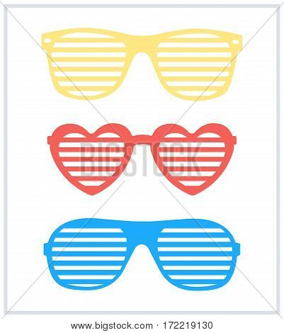 Set of sunglasses background vector Set of sunglasses background vector