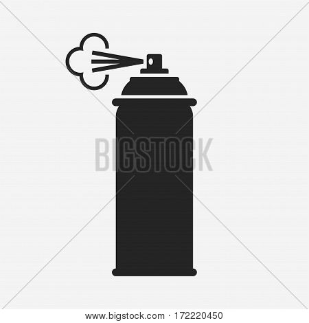 Spray. Vector icon isolated on grey background.