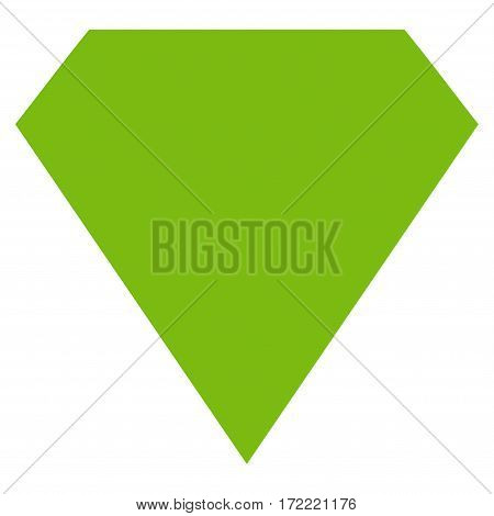Diamond flat icon. Vector light green symbol. Pictogram is isolated on a white background. Trendy flat style illustration for web site design logo ads apps user interface.