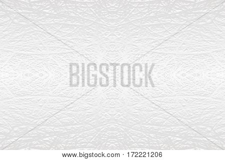 White textured rough wry carved lines on surface symmetric background