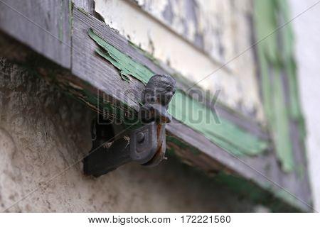 Details of vintage windows / Holder window shutters