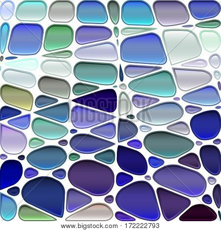 abstract vector stained-glass mosaic background - violet and gray