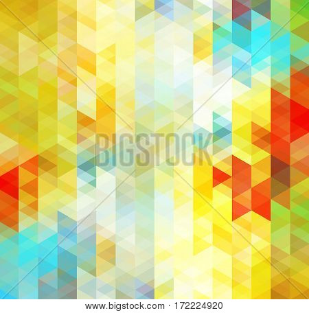 Abstract background of colored triangles vector eps10