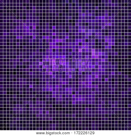 abstract vector square pixel mosaic background - violet