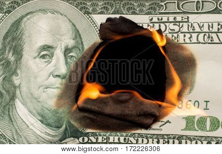 Fire On Banknotes