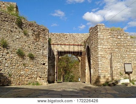 Gorna Porta, the upper gate of Ohrid old town, Republic of Macedonia