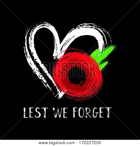 Lest We Forget Poppy Card