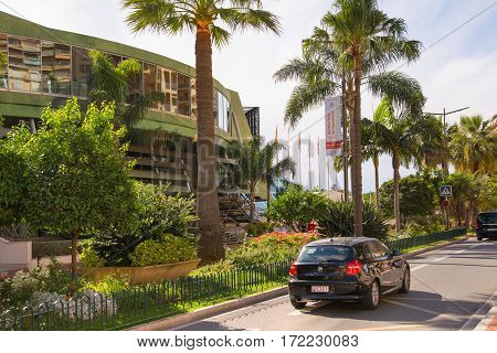 Monaco, Monte Carlo - September 17, 2016: Business centre of Monaco at the Princesse Grace avenue