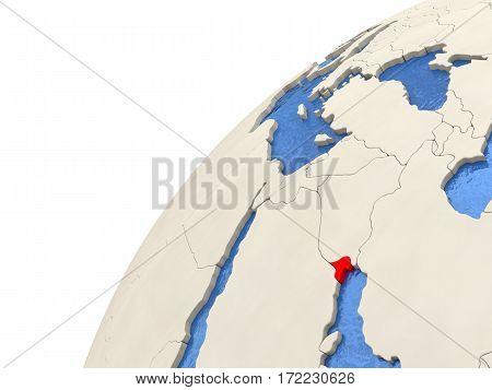 Kuwait On Globe