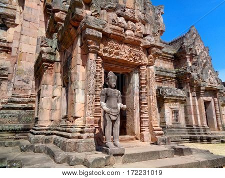 Inner Sanctuary of Prasat Hin Phanom Rung, Ancient Khmer Temple Complex in Buriram Province of Thailand
