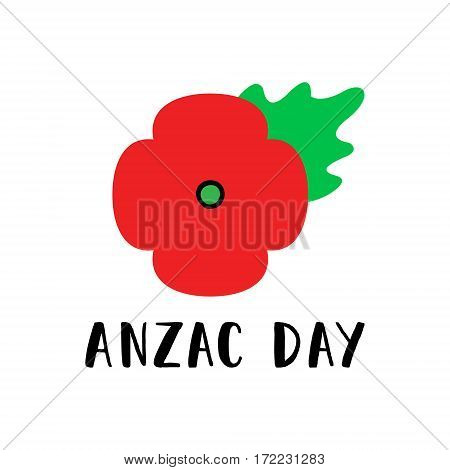 Remembrance Day poppy card. Anzac day Australia, Zealand, Kenia.