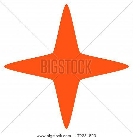 Sparkle Star flat icon. Vector orange symbol. Pictogram is isolated on a white background. Trendy flat style illustration for web site design logo ads apps user interface.