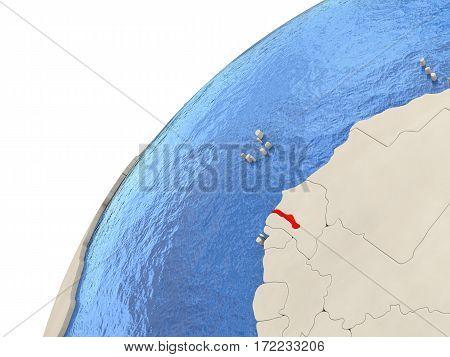 Gambia On Globe