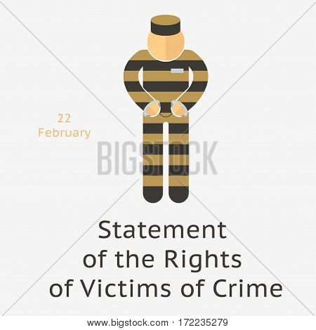 Prisoner Vector Illustration
