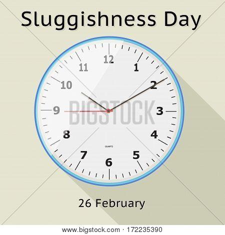 Sluggishness Day Vector