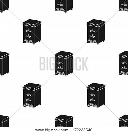 Beehive icon in black style isolated on white background. Apiary pattern vector illustration