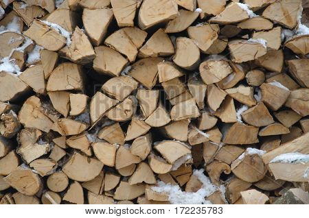 Firewood stacked frame for heating in the oven