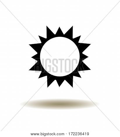 vector illustration of a sun icon black and white