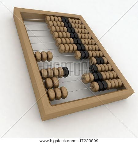 Close-up of wooden abacus
