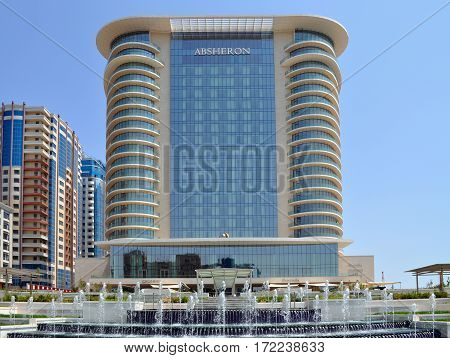 BAKU/ AZERBAIJAN. JW Marriott Hotel Absheron on May 9, 2012 in the center of Baku, Azerbaijan.