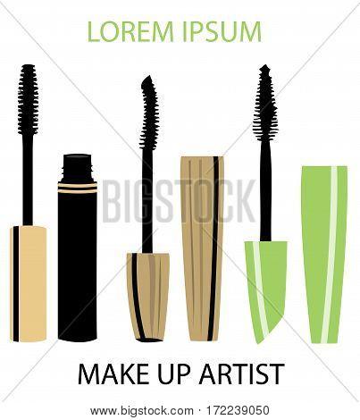 vector illustration of make up artist business card