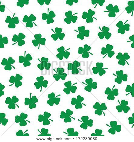 vector illustration of shamrock seamless background St. Patrick day