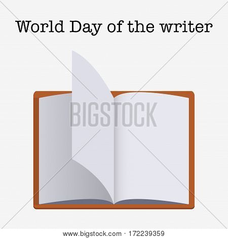 Writer Day Vector