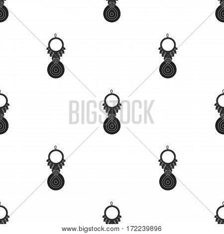 Amulet nazar icon in black style isolated on white background. Turkey pattern vector illustration.