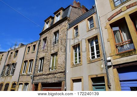 Metz France - july 25 2016 : the picturesque old city in summer
