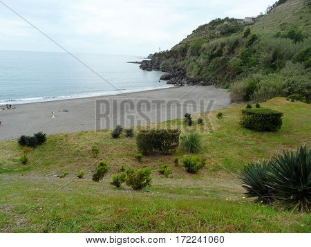 Landscape Agua de alto, Vila Franca do Campo. Sao Miguel Island, Azores, Portugal