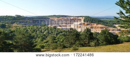 View of calcite quarry in Bohemian karst Czech republic