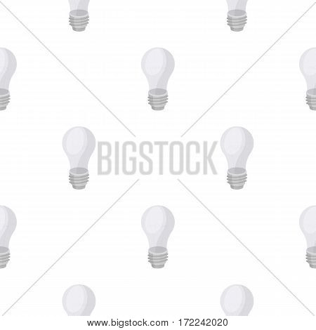 Lightbulb icon in cartoon style isolated on white background. Light source pattern vector illustration