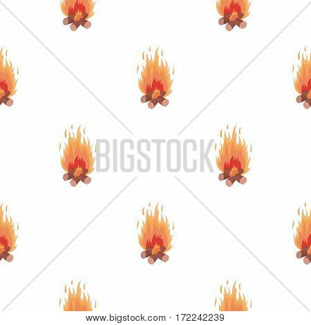 Campfire icon in cartoon style isolated on white background. Light source pattern vector illustration
