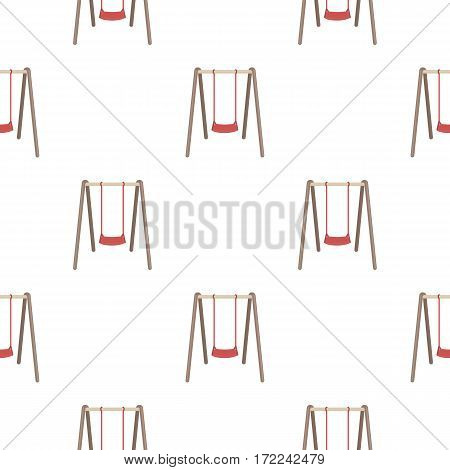 Swing seat icon in cartoon style isolated on white background. Park pattern vector illustration.