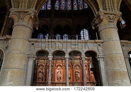 Reims France - july 26 2016 : the Saint Remi basilica