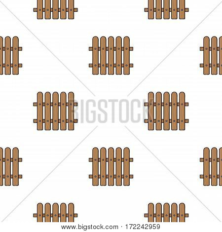 Fence icon in cartoon style isolated on white background. Sawmill and timber pattern vector illustration.
